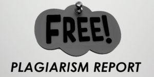 Free Plagiarism report